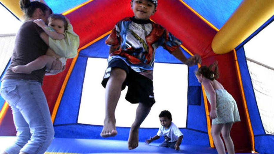 2 toddlers injured after bounce house accident