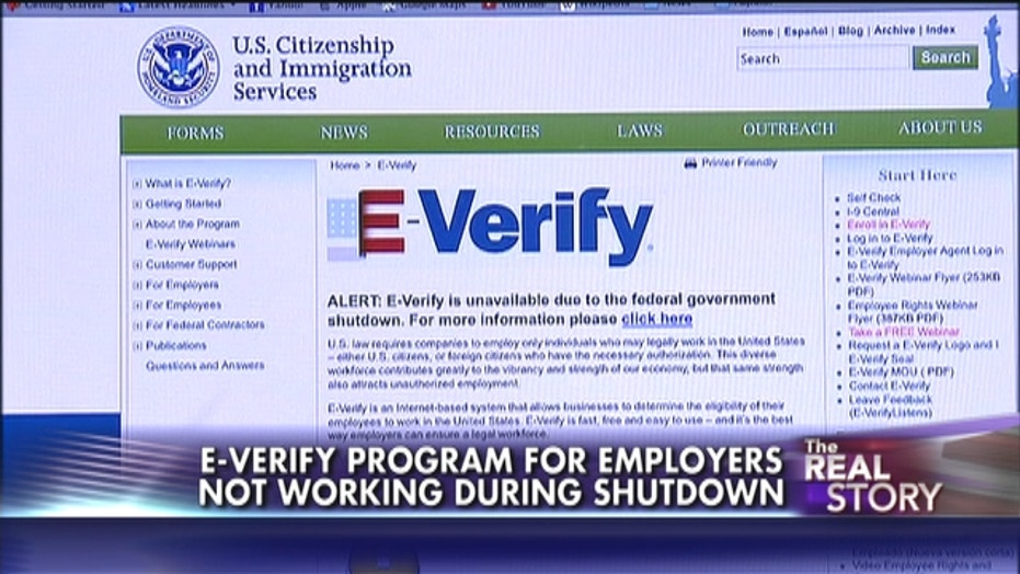 Government Shutdown: E-Verify Not Verifying