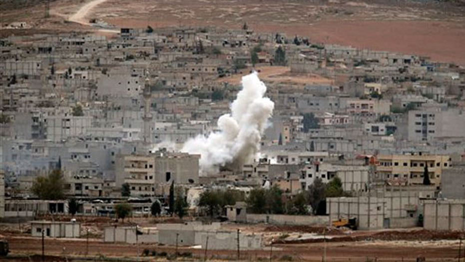 US airdrops weapons and supplies to Kurds in Kobani