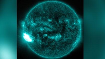 Powerful burst of radiation captured in photo