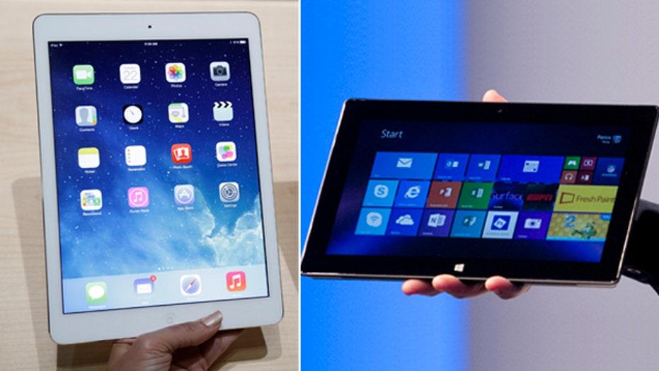 Apple iPad Air vs. Microsoft Surface 2