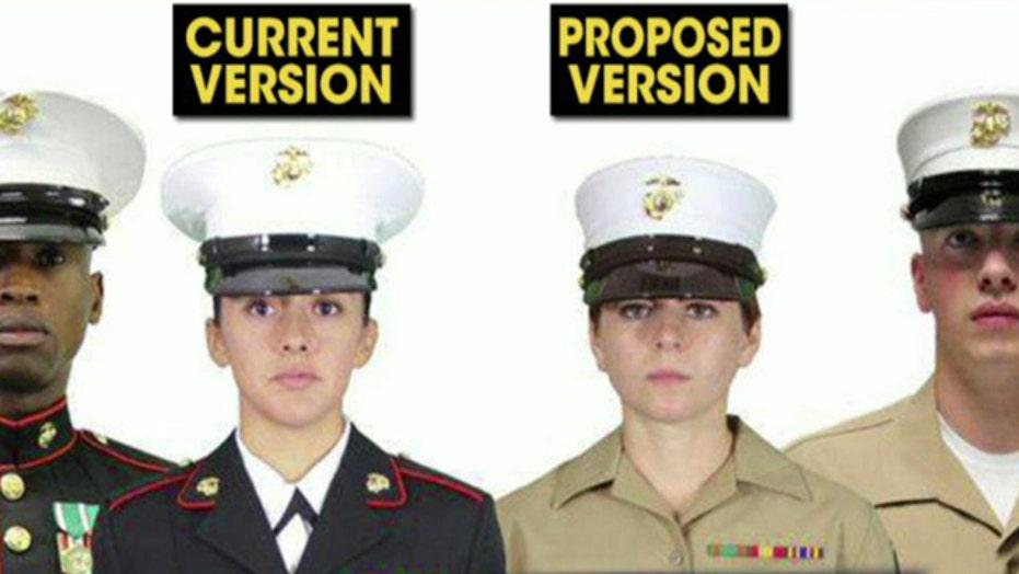 Marine calls new unisex hats 'appalling'