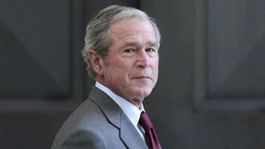 George Bush unveils his new book
