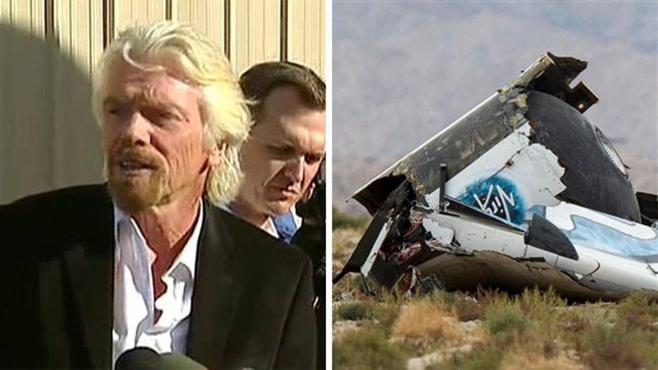 Richard Branson comments on SpaceShipTwo crash