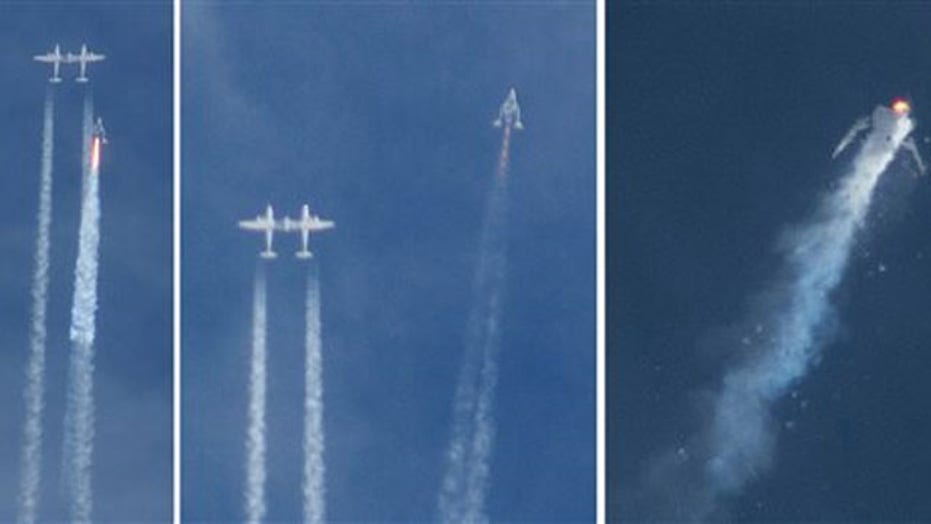 New images show SpaceShipTwo breaking apart after ignition