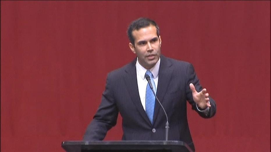George P. Bush gives a victory speech