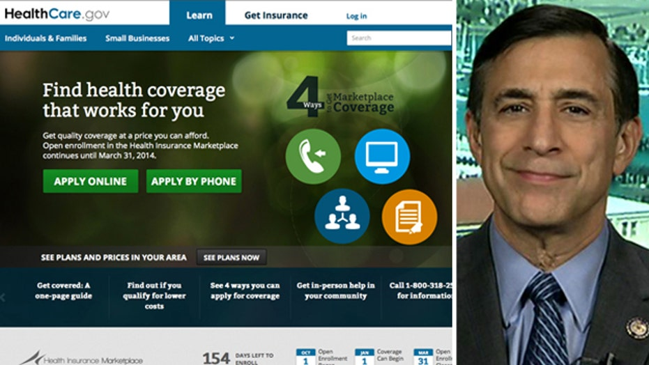 Issa: ObamaCare site was a failure that 'they knew about'