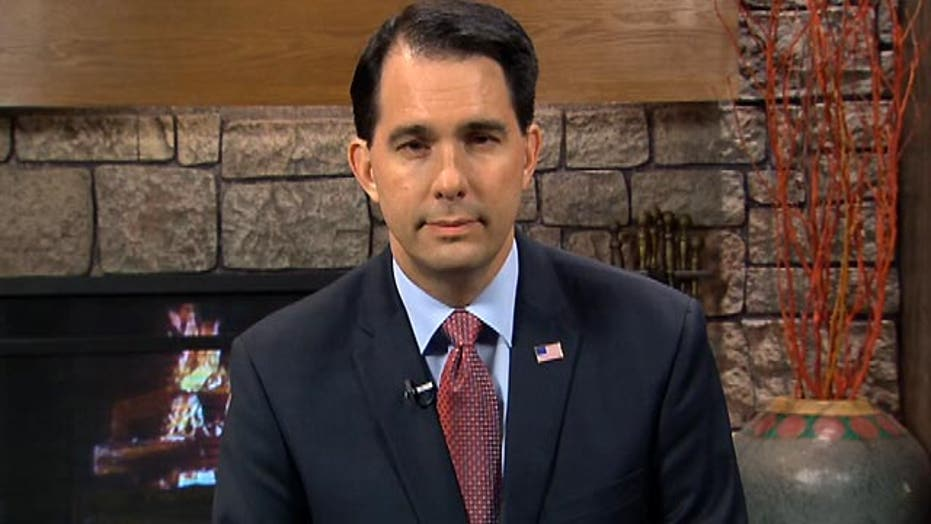 Gov. Scott Walker urges the GOP to 'get out there and lead'