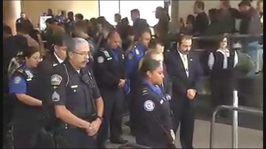 Airports Hold Silent Tribute For Slain TSA Officer Gerardo Hernandez