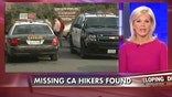 Fifteen hikers from a church group who failed to return from a weekend hike in the Southern California mountains were found by a helicopter search crew.