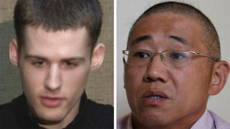 U.S. prisoners freed from North Korea back on American soil