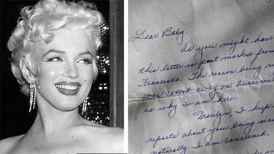 Love letters of Marilyn Monroe up for auction