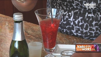 Holiday drink: Raspberry champagne cocktail with a kick