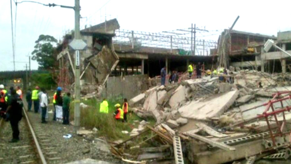 Mall under construction in South Africa collapses