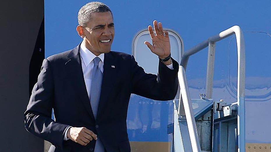 President Obama heads west to rally base, raise funds