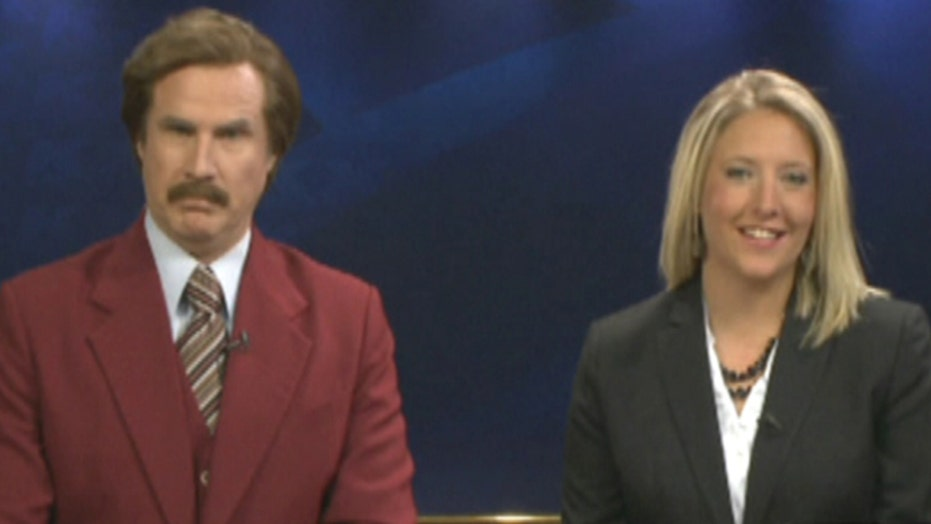 'Ron Burgundy' delivers the news