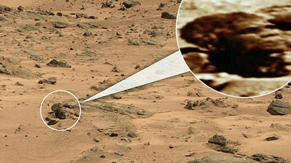 Rock shaped like President Obama snapped on Mars?