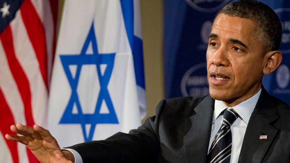 Obama speaks about Mideast policy at DC forum