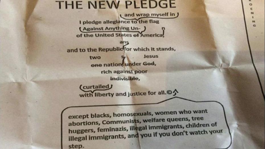 Anti-American 'pledge of allegiance' part of college class