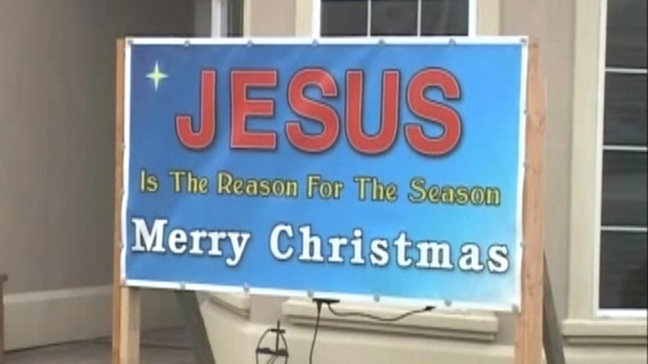 'Jesus' sign causes controversy