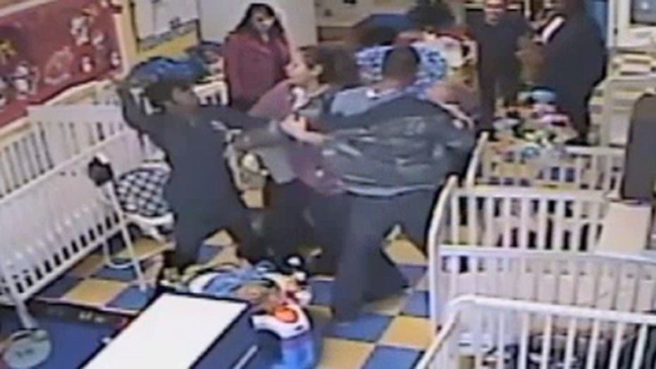 Raw video: Fight breaks out in Georgia daycare