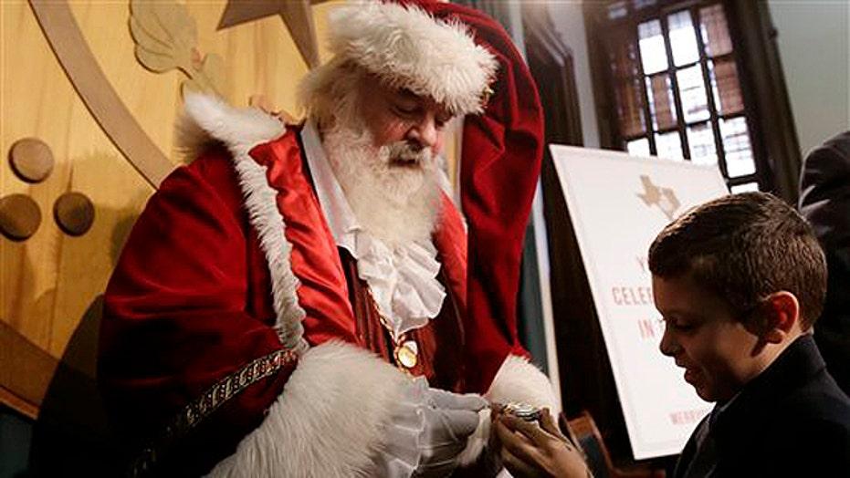 Both sides of the Santa Claus debate