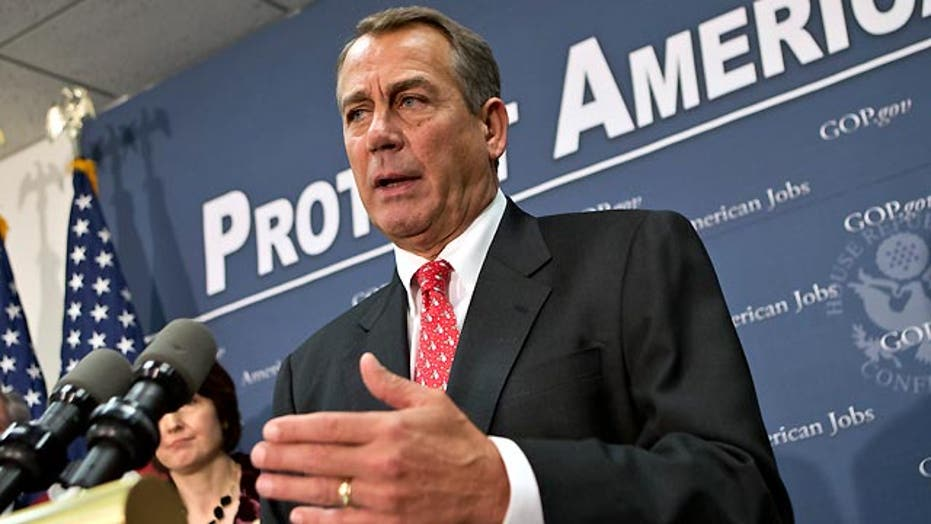 Boehner offers a backup plan for 'fiscal cliff'