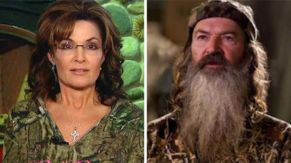 Sarah Palin sounds off on 'Duck Dynasty' suspension