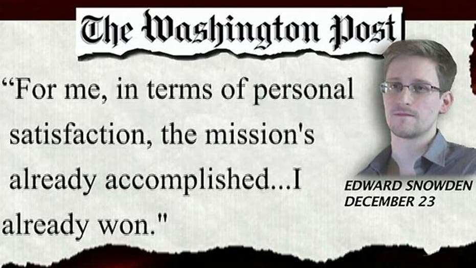 Snowden claims his mission is 'accomplished'