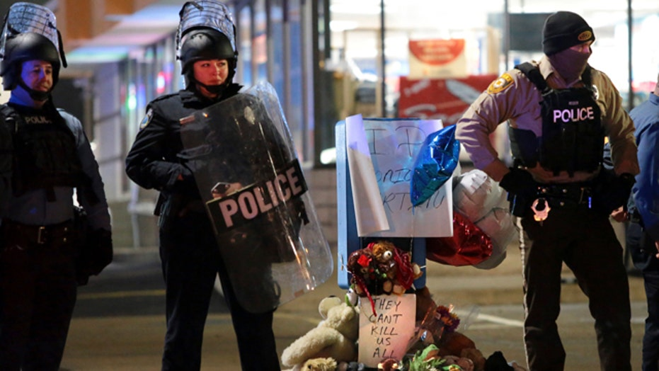 Protests for second night after shooting near Ferguson
