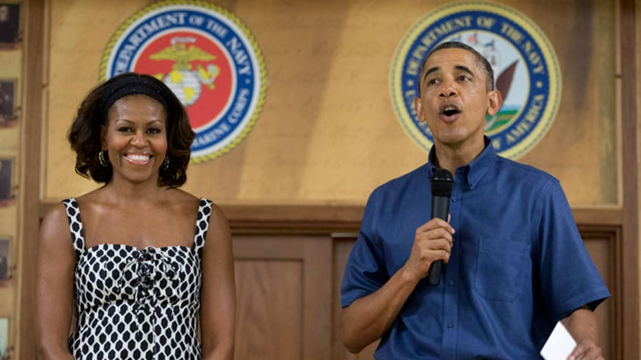 President and First Lady visit troops for Christmas