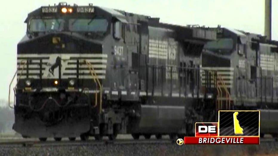 Across America: Train derails in Delaware