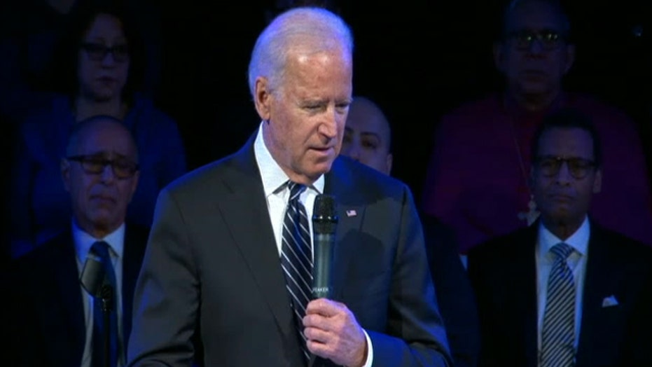 Vice President Biden speaks at the funeral for Rafael Ramos