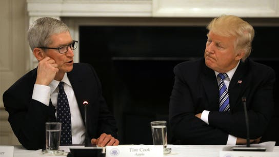 Apple CEO Tim Cook meets Trump at White House amid trade conflict with China