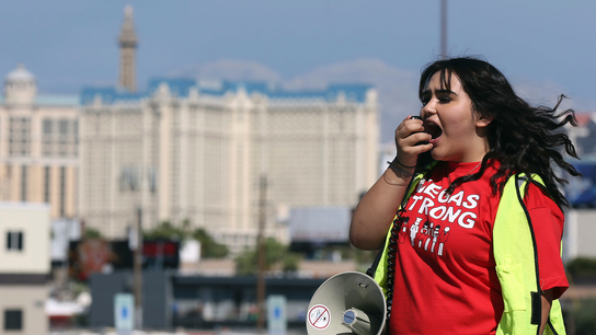 Vegas casino workers OK strike that may hobble famed resorts