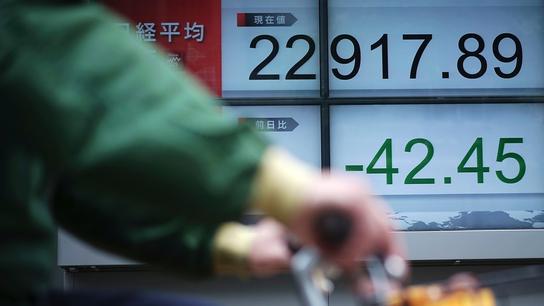 Global shares fall amid worries over US-China trade, Koreas