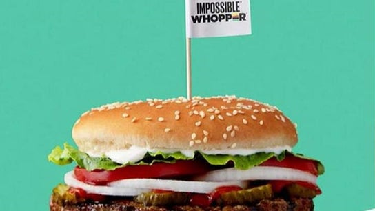 Burger King locations offering Impossible Whopper see higher foot traffic, report says