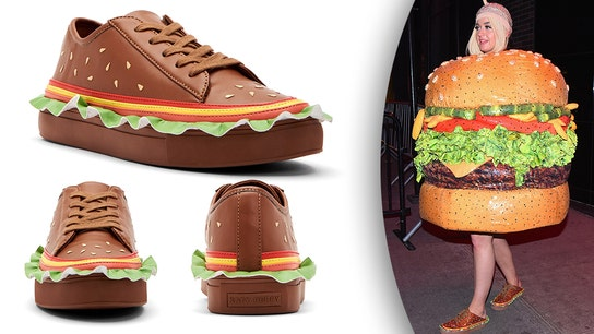 Katy Perry's shoe line selling 'hamburger-inspired' sneakers after Met Gala costume