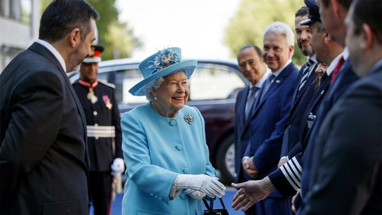 Queen Elizabeth II visits British Airways, Sainsbury's in honor of their anniversaries