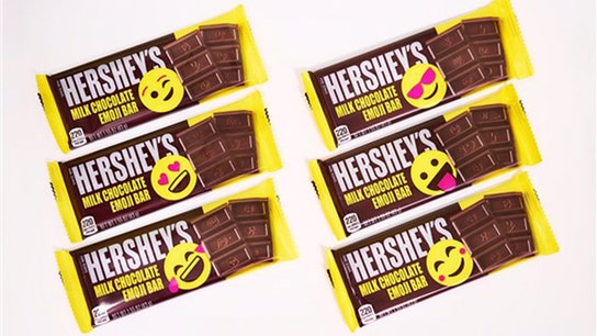 Hershey redesigns chocolate bar for the first time in 125 years to include emojis