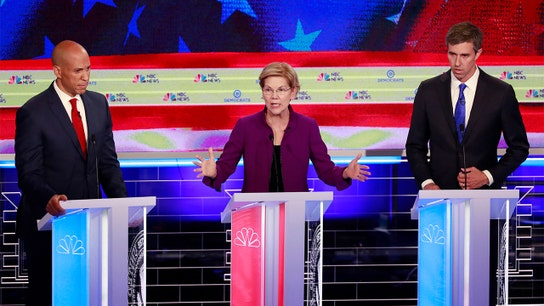 At first Democratic debate, sparks fly over health care