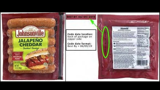 Johnsonville recalls about 95,000 pounds of jalapeño cheddar smoked sausages