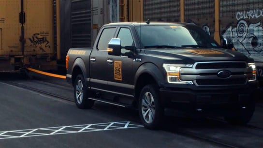 Ford demonstrates all-electric F-150's power with video of vehicle towing more than 1M pounds
