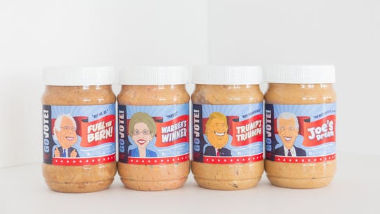 Peanut butter based on 2020 candidates released. Here's where you can get a jar