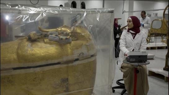 Egypt restores King Tut's priceless golden coffin