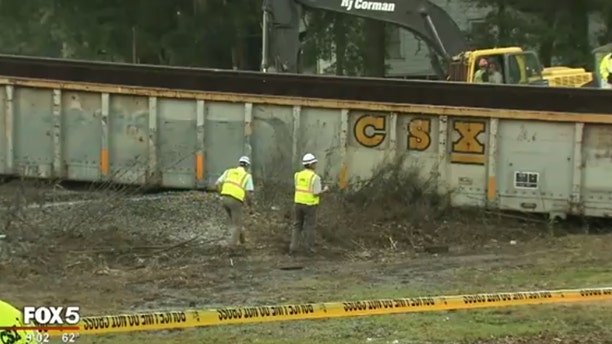 An Atlanta resident was injured when a freight train derailed and struck his home.