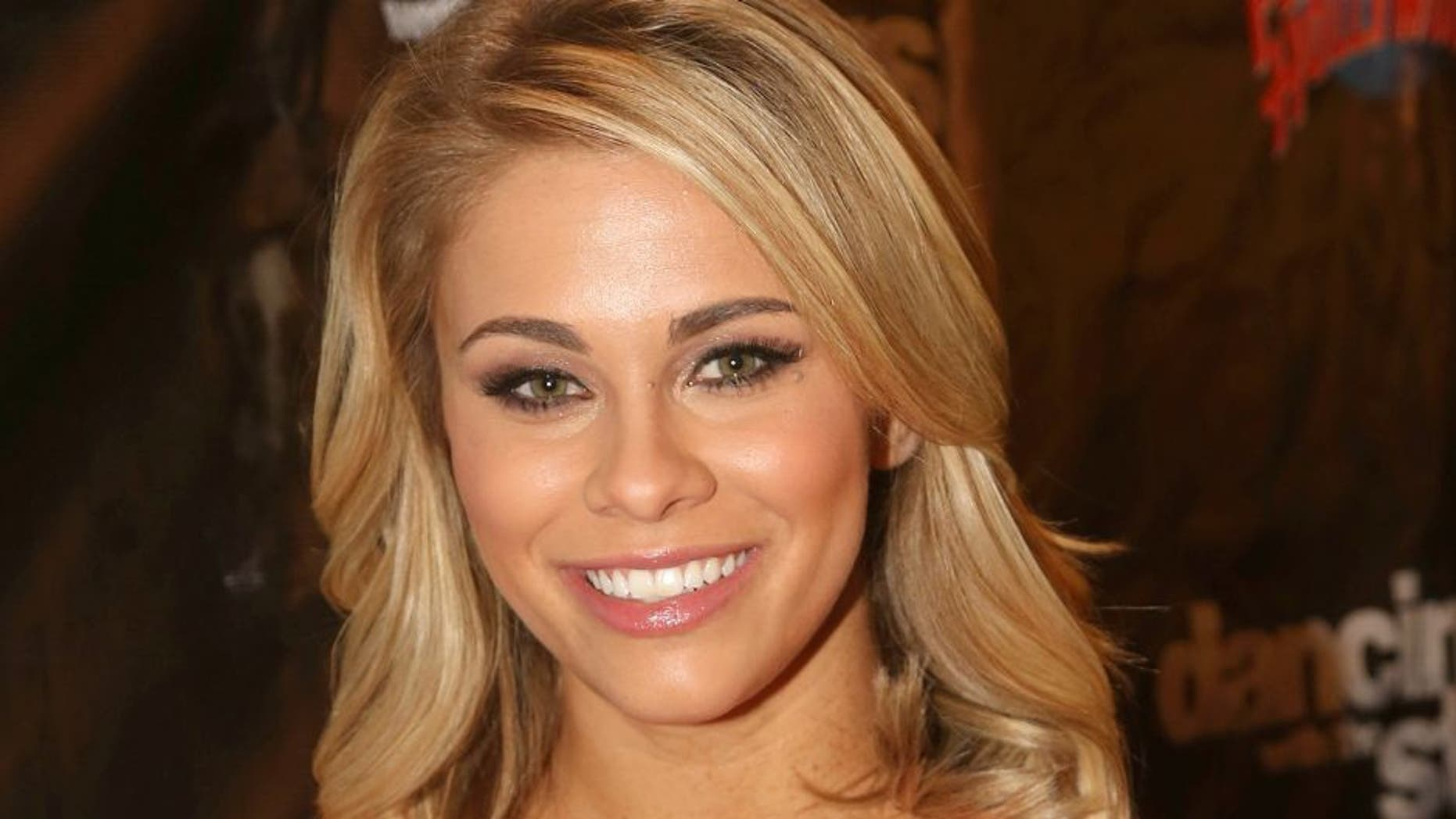 """NEW YORK, NY - MARCH 08: Paige VanZant poses at the 22nd Season Stars of ABC's """"Dancing With The Stars"""" cast announcement at Planet Hollywood Times Square on March 8, 2016 in New York City. (Photo by Bruce Glikas/FilmMagic)"""