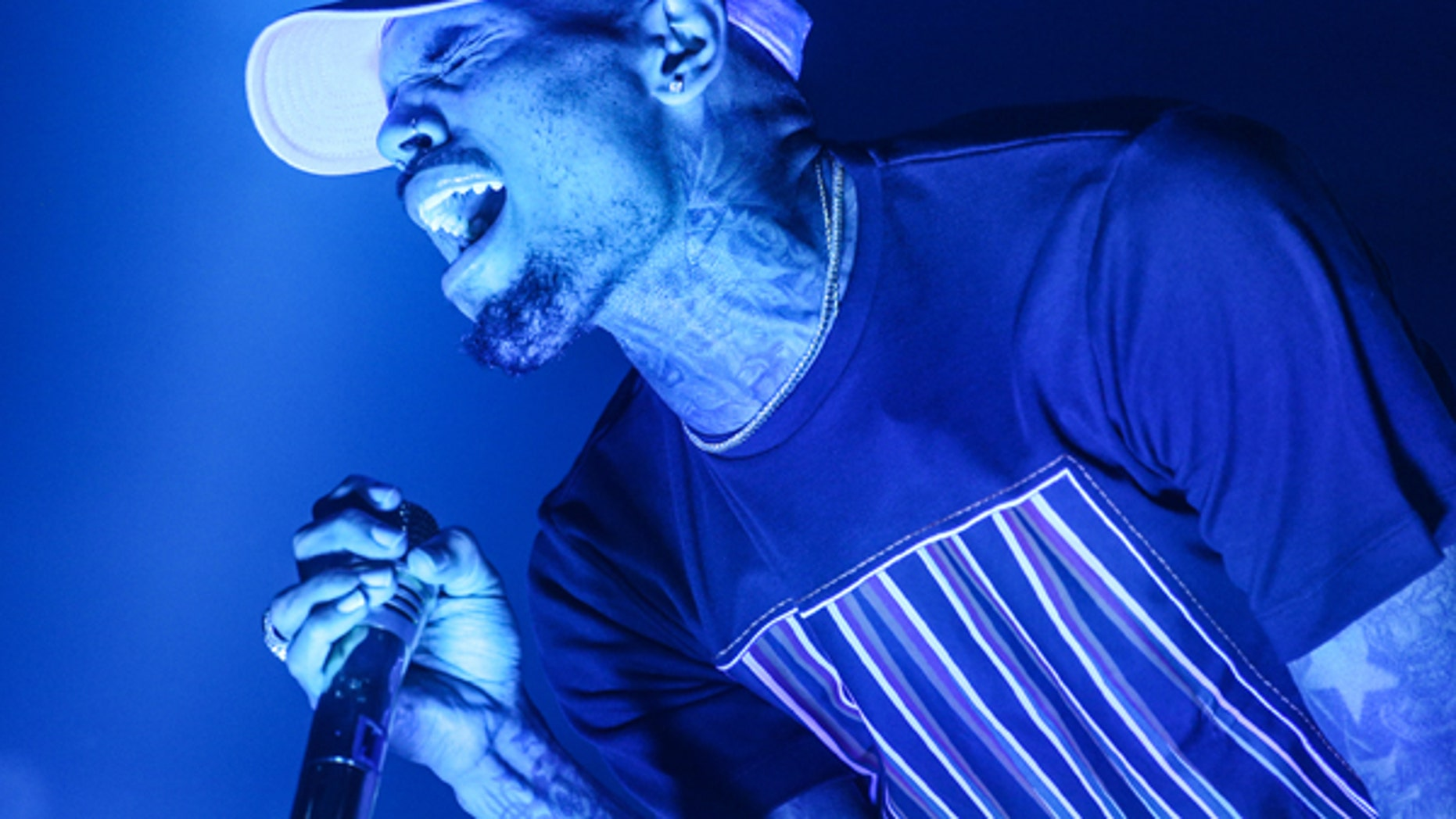 Chris Brown performs at the Hollywood Palladium in Los Angeles.