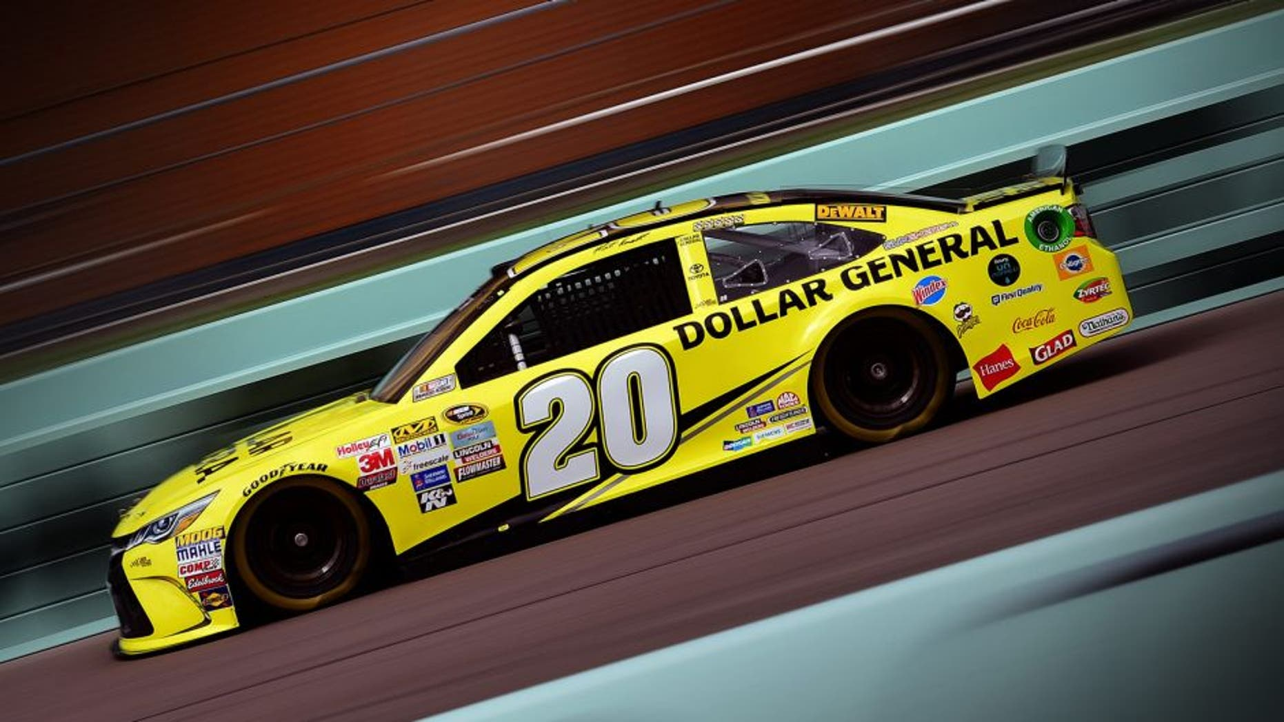 HOMESTEAD, FL - NOVEMBER 20: Matt Kenseth, driver of the #20 Dollar General Toyota, practices for the NASCAR Sprint Cup Series Ford EcoBoost 400 at Homestead-Miami Speedway on November 20, 2015 in Homestead, Florida. (Photo by Jared C. Tilton/NASCAR via Getty Images)