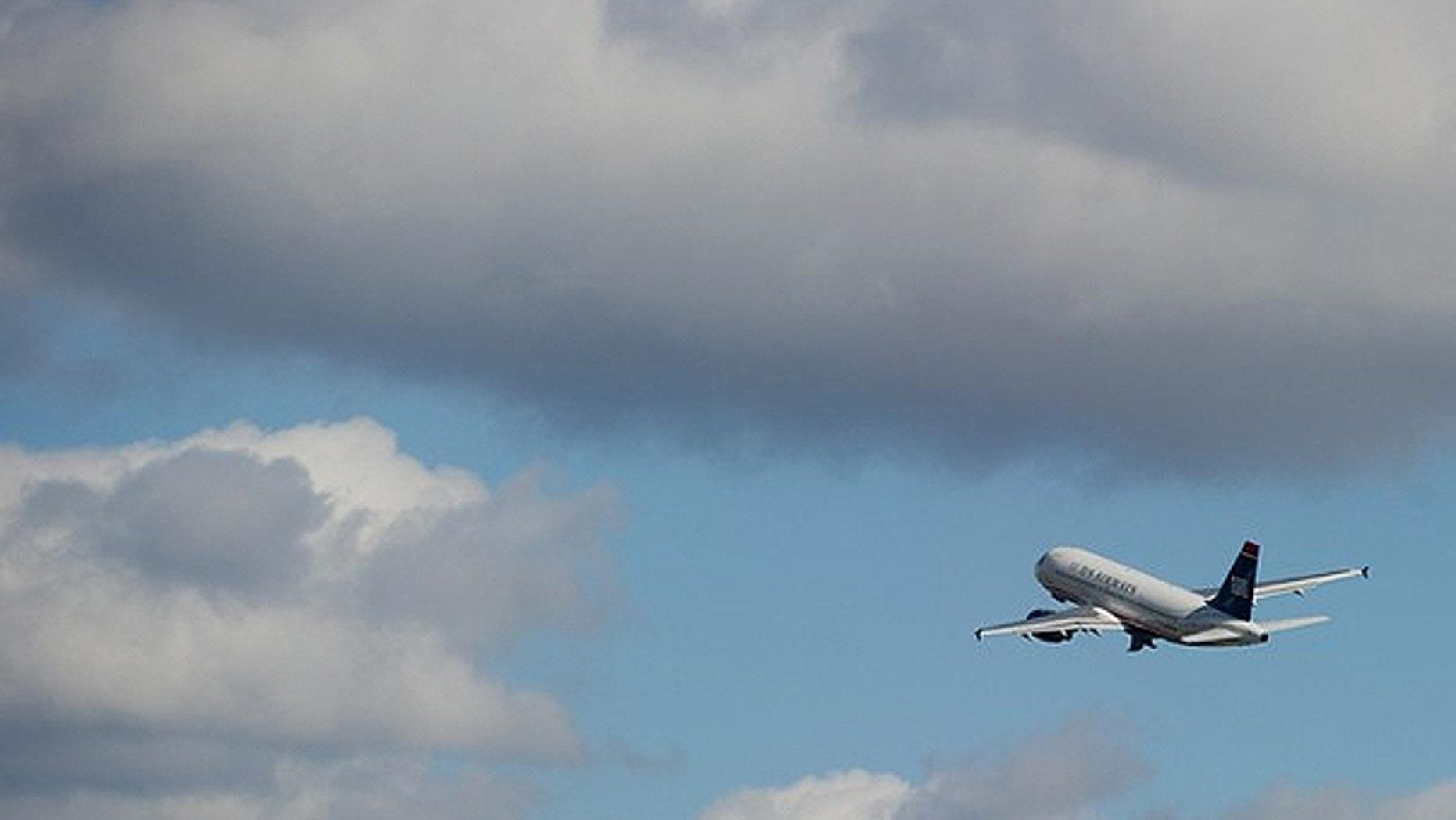 Nov. 6: A US Airways Airbus A319 airplane takes off from Ronald Reagan Washington National Airport in Arlington, Virginia.